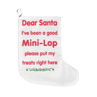 good mini-lop large christmas stocking