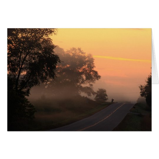 Good Misty Morning Card
