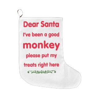 good monkey large christmas stocking