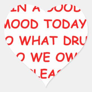 good mood heart sticker
