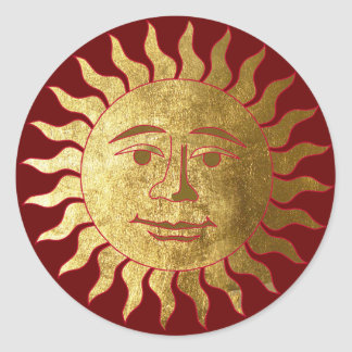 Good Mood Sun Classic Round Sticker