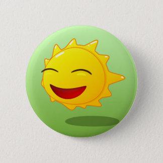 Good mood swipes in pinback button