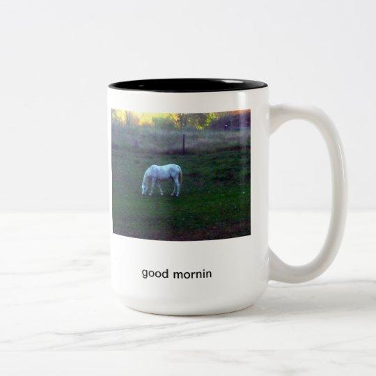 good mornin Two-Tone coffee mug