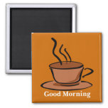Good Morning 2 Inch Square Magnet