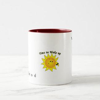 good_morning_5, G o  o  d, Morning Two-Tone Coffee Mug
