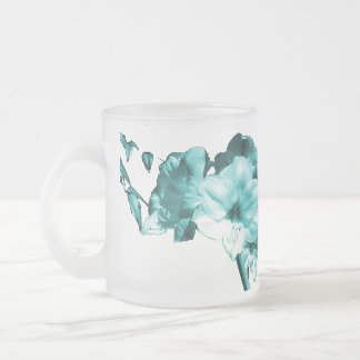 Good Morning Amaryllis Mug Frosty Teal