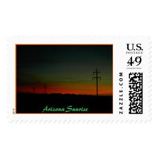 Good Morning Arizona, Arizona Sunrise Postage Stamp