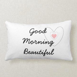 Good Morning Beautiful Lumbar Pillow