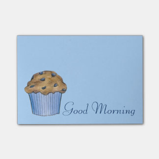 Good Morning Breakfast Blueberry Muffin Post Its Post-it Notes