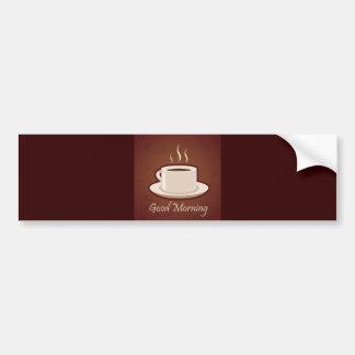 GOOD MORNING BROWN COFFEE DRINKS CAPPUCCINO MOCHA BUMPER STICKERS