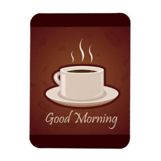 GOOD MORNING BROWN COFFEE DRINKS CAPPUCCINO MOCHA FLEXIBLE MAGNET