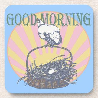 Good Morning Chicken Beverage Coaster