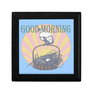 Good Morning Chicken Trinket Box
