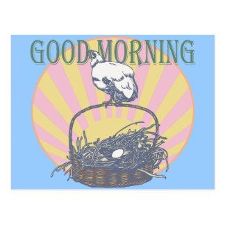 Good Morning Chicken Postcard