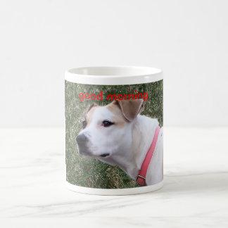 , good morning classic white coffee mug