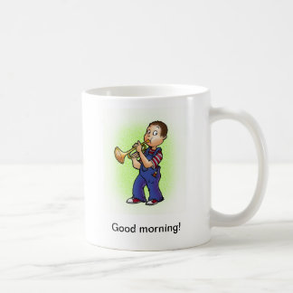 Good morning@ classic white coffee mug
