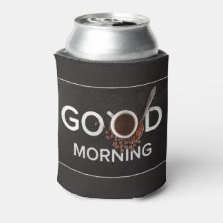Good Morning Coffee custom monogram can cooler