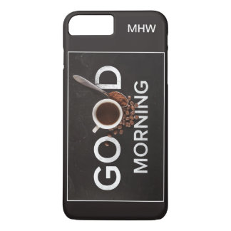 Good Morning Coffee custom monogram phone cases