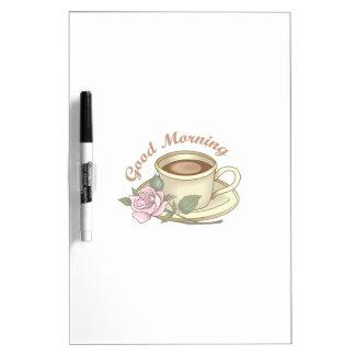 GOOD MORNING COFFEE Dry-Erase BOARD