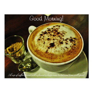 Good Morning Coffee Postcard