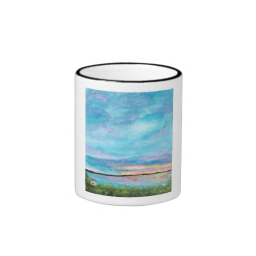 Good Morning Coffee Tea Cup Original Abstract Art Mug