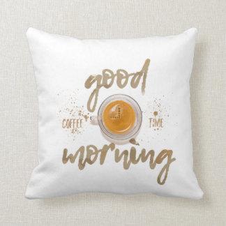 Good morning. Coffee Time Throw Pillow