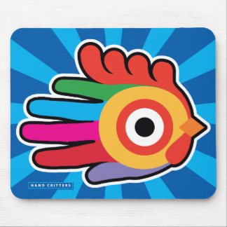 Good Morning Colorful Rooster Mouse Pad