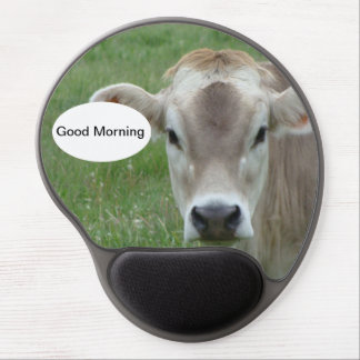 Good Morning Cow Mousepad Gel Mouse Pad