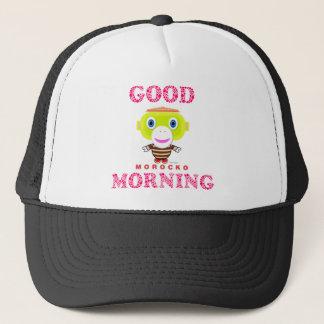 Good Morning-Cute Monkey-Morocko Trucker Hat