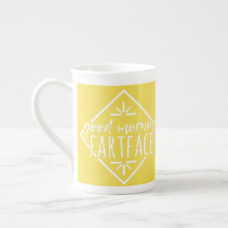 good morning fart face gift for boyfriend ,friend tea cup