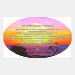 Good morning father prayer rectangular sticker