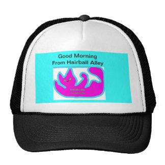 Good Morning From Hairball Alley Cap Trucker Hat
