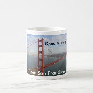 Good morning from San Francisco Classic White Coffee Mug