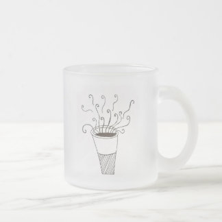 Good Morning Frosted Glass Coffee Mug