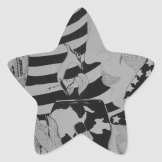 Good morning Glory Star Sticker