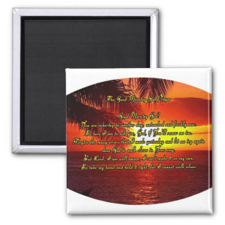 Good Morning God prayer 2 Inch Square Magnet