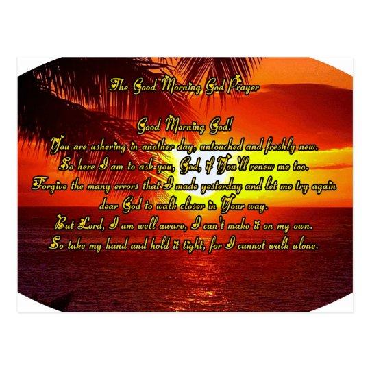 Good Morning God prayer Postcard