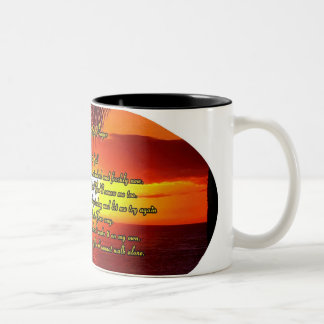 Good Morning God prayer Two-Tone Coffee Mug