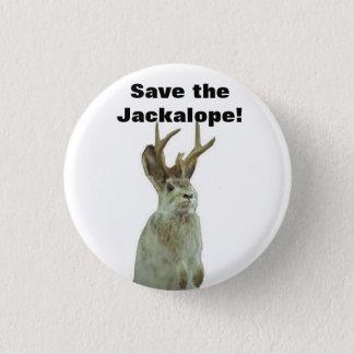 Good Morning Gomorrah: Save the Jackalope! Pinback Button