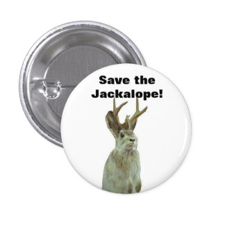 Good Morning Gomorrah: Save the Jackalope! Pinback Button