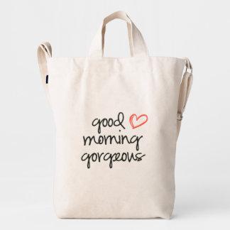 Good Morning Gorgeous Baggu duck canvas bag