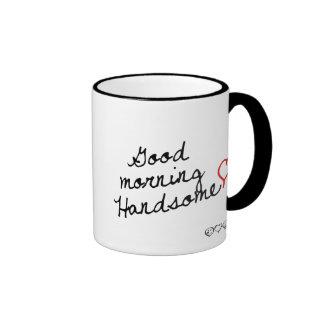 Good Morning Handsome! Ringer Mug