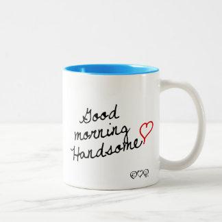 Good Morning Handsome! Two-Tone Coffee Mug