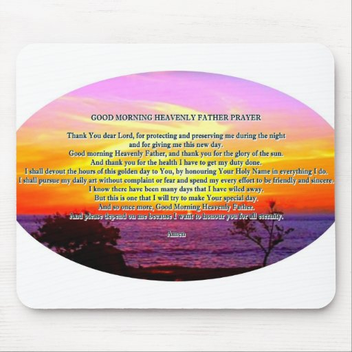 Good morning heavenly father prayer mouse pad