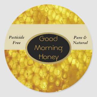 Good Morning Honey Labels Classic Round Sticker