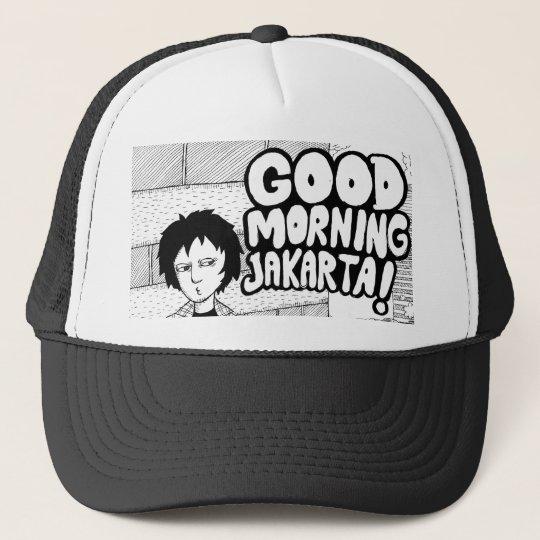 good morning jakarta trucker hat