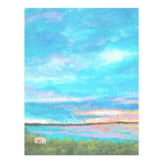 Good Morning Landscape Art Seashore Beach Sunrise Letterhead