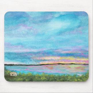 Good Morning Landscape Art Seashore Beach Sunrise Mouse Pad