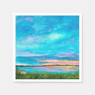Good Morning Landscape Art Seashore Beach Sunrise Napkin