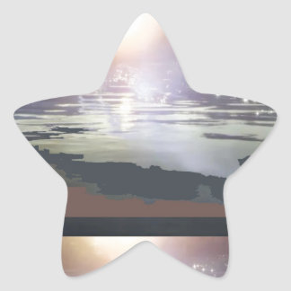 GOOD Morning Landscape : Northern Canada Star Sticker